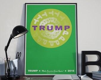 Green Circle Fade Out - Trump Art Print