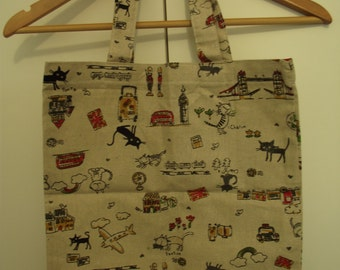 Cute Cats and London Grocery Bag