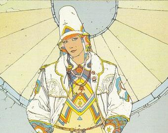 Azrach by Jean-Giraud Moebius 11 x 17 Fine Art Print