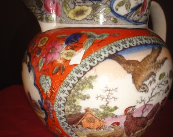 pretty chinese floral jug