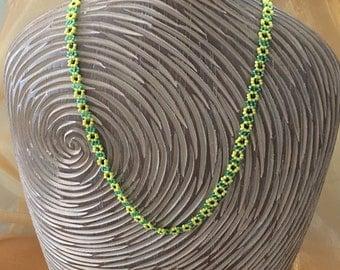 Beaded Sunflower Necklace