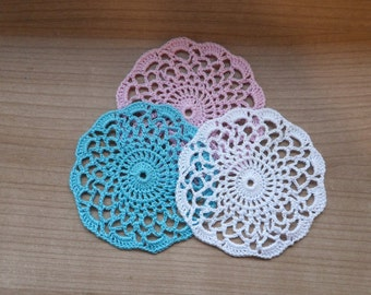Set of 4 Hand-crocheted Doilies