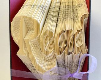Read Folded Book Art - Book Sculpture - Book Origami - English Teacher Gift - Paper Folding Art - For Readers - For Book Lovers