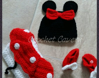 Minnie Mouse NEWBORN photo prop set