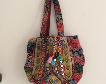 Stunning Pakistani-work vintage shoulder bag