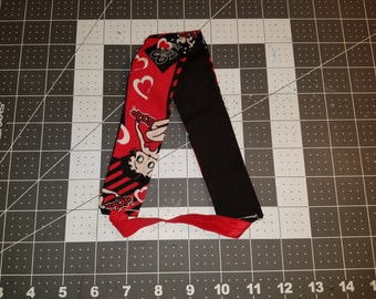 Headband - Betty Boop Reversible with either black or red flip side!