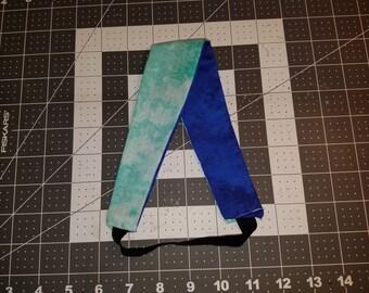 Headband - Reversible dark blue / light blue