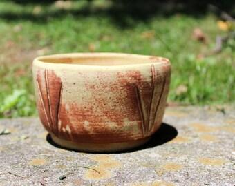 carved desert bowl