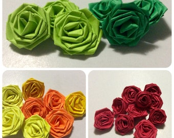 Small paper roses (any color)