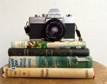 Vintage SRT 100X Minolta Camera, Panagor Lens and Self Timer