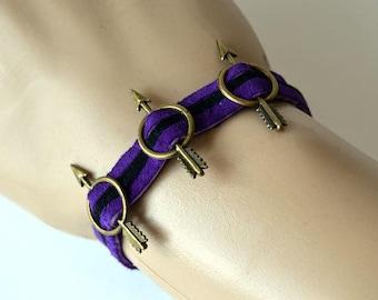 Hawkeye Inspired 3 Arrow Bracelet in Purple and Black
