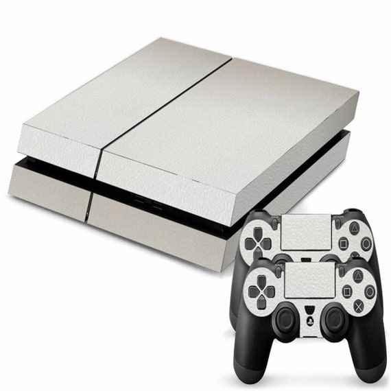 White Playstation 4 PS4 Console Skin Vinyl Graphic decal 2