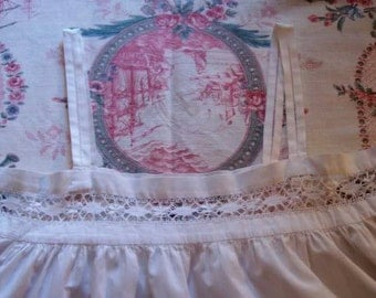 An old thin white canvas shirt. with lace, deco shabby