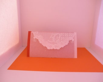 50th anniversary / 50th birthday white lace-like greeting card