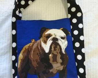 Mini shopper bag - bulldog