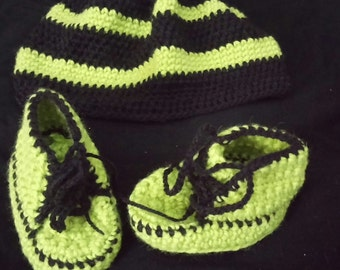 Baby boy shoes and hat