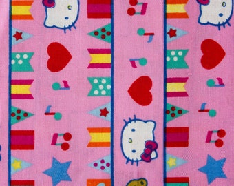 100% Cotton Print Fabric - Hello Kitty Flaglets by the yard
