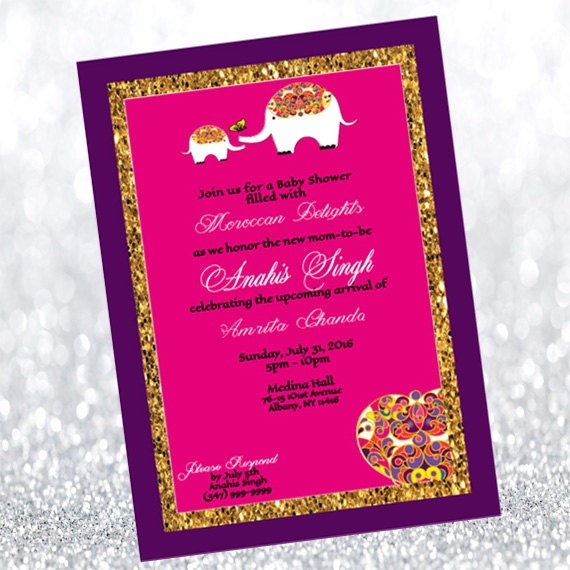 moroccan themed baby shower invitation