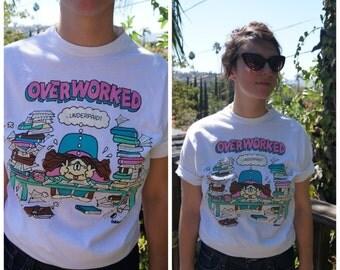 Vintage 80s Cathy Comic Strip T-Shirt