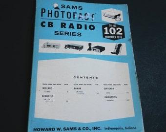 Vintage Sams Photofact CB Radio Series- Volume CB 102 Original Manual Book 1976 , CB radio book