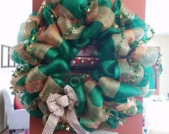 St. Paddy's Day Deco Mesh Wreath