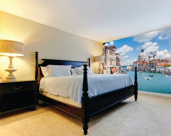 Photo Wallpaper Wall Mural for Bedroom Decor, Living Room Decor, Office or Dining Room - Grand Canal Venice Italy Large Room Mural