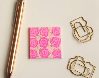Floral Magnet - Pink Magnet - Refrigerator Magnet - Flower Magnet - Pink Flower Magnet