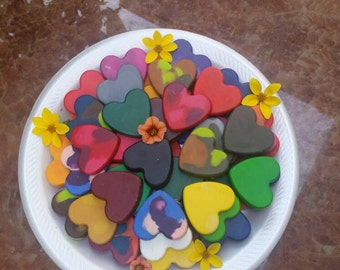 Heart Shaped Crayons 15 count