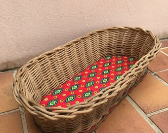 Vintage French Wicker BAGUETTE BREAD Basket table baskets