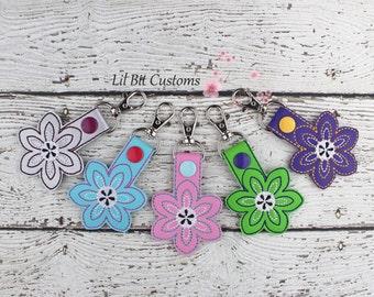 Paisley Flower Snap Tab