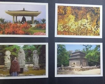 Korea Gyeongju Tourist Spot Attraction Post Card 6Sheets Collection 2