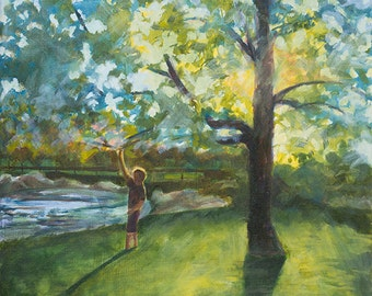 "Boy under Tree, 11""x14"" fine art print"