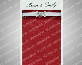 Wedding invitations custom card hand made embossed 51 wedding cards wedding invitation