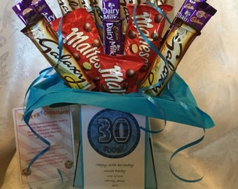 Mixed chocolate large chocolate bouquet 30th birthday