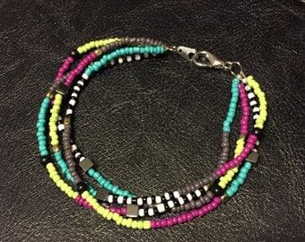 Four Strand Seed Bead Bracelet