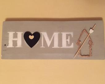 Handmade 'home' plaque