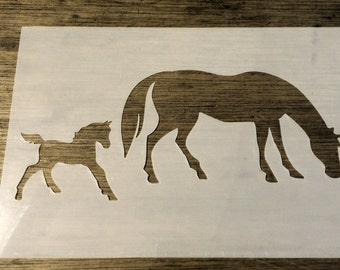Horse & Foal Stencil