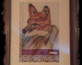 Reynard the beautiful hand crafted picture art fox
