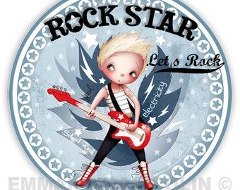 "Rock ""Let's"" badge"