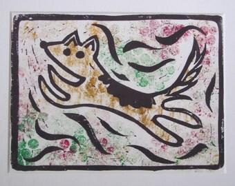 Dog Lino Print