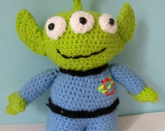 Crochet Alien Toy Story - Soft toy - Disney Pixar - Gift for kids - The Claw