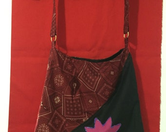 Flower paisly tote