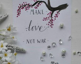 Make Love Not War - Cherry Blossom