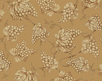 Vineyard Haven Grape Toile Fabric Tan From Quilting Treasures