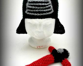 Crochet Baby Kylo Ren Hat