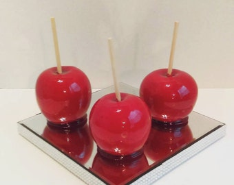 12 Traditional Red Candy Apples