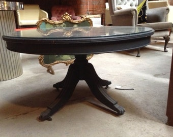 Claw Foot Glass Coffee Table