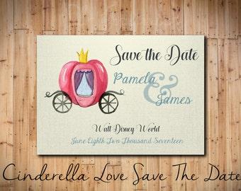 Disney's Cinderella Save the Date DIGITAL FILE