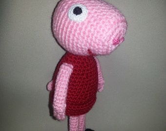 Peppa pig, crocheted Peppa Pig toy, Gift for children