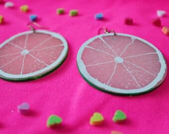 acrylic Summer Fruity Lime Earrings Japan Harajuku plastic